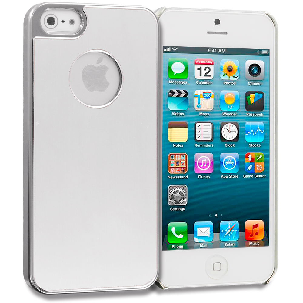 Apple iPhone 5/5S/SE Silver Aluminum Metal Hard Case Cover