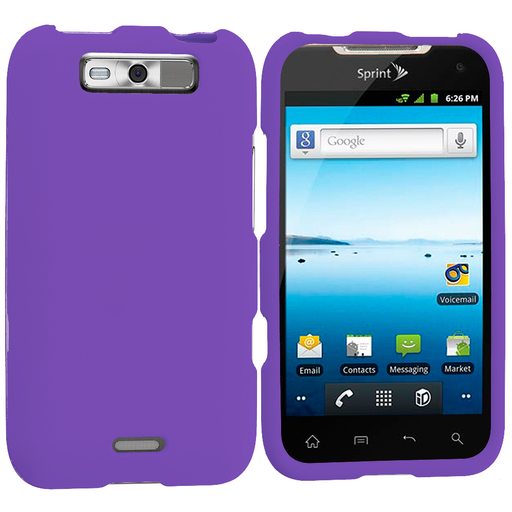 LG Viper / Connect Purple Hard Rubberized Case Cover