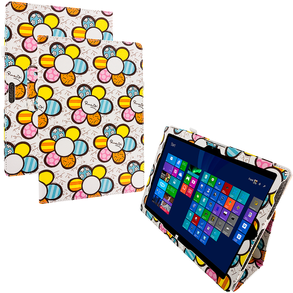 Microsoft Surface Pro 3 Design Flowers Folio Pouch Flip Case Cover Stand