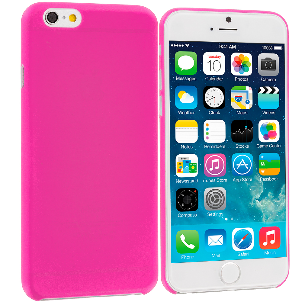 Apple iPhone 6 Plus 6S Plus (5.5) Hot Pink 0.3mm Super Ultra Thin Back Case Cover
