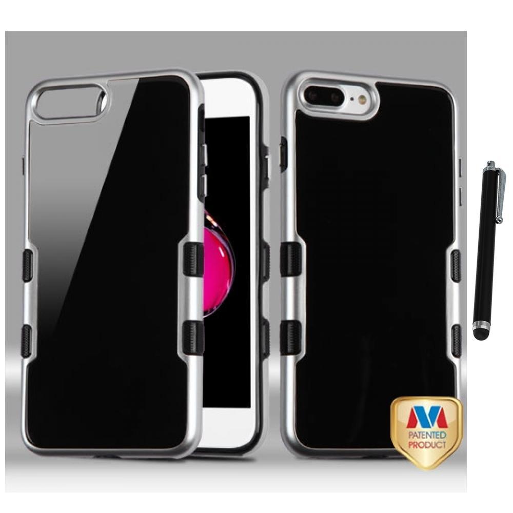 for iphone 7 plus 5 5 2 piece tpu hard fusion case bumper cover stylus pen. Black Bedroom Furniture Sets. Home Design Ideas