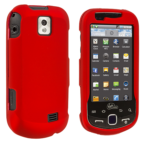 Samsung Intercept i910 Red Hard Rubberized Case Cover
