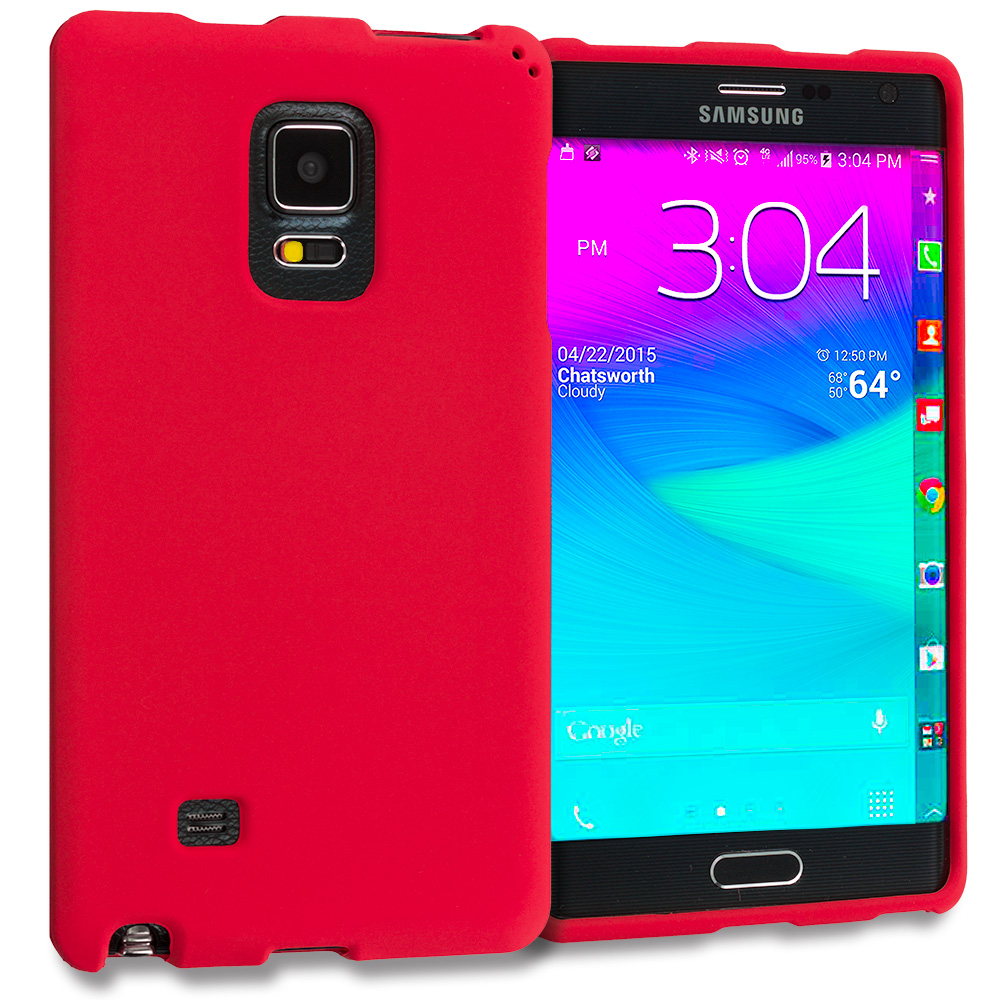 Samsung Galaxy Note Edge Red Hard Rubberized Case Cover