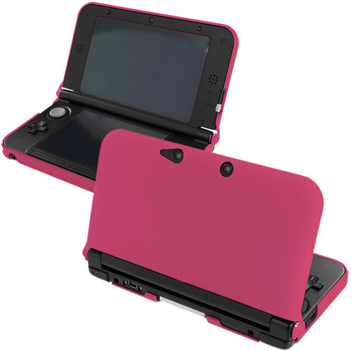 New 2015 Nintendo 3DS XL Hot Pink Hard Rubberized Case Cover