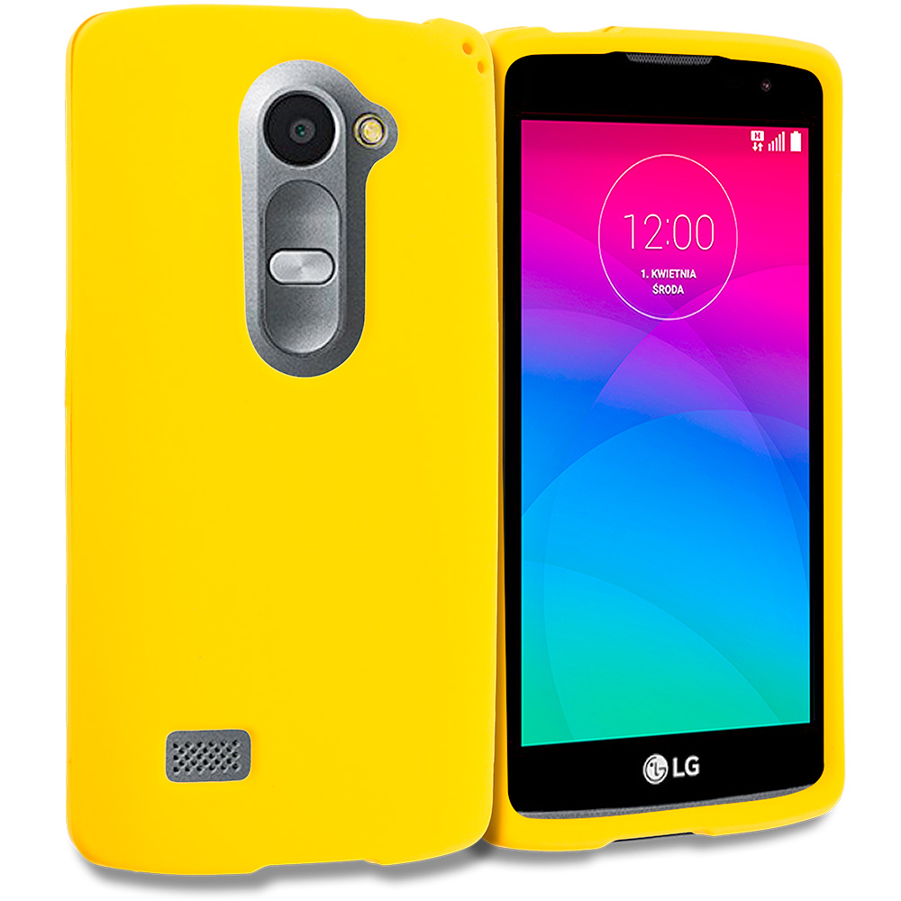 LG Tribute 2 Leon Power Destiny Yellow Hard Rubberized Case Cover