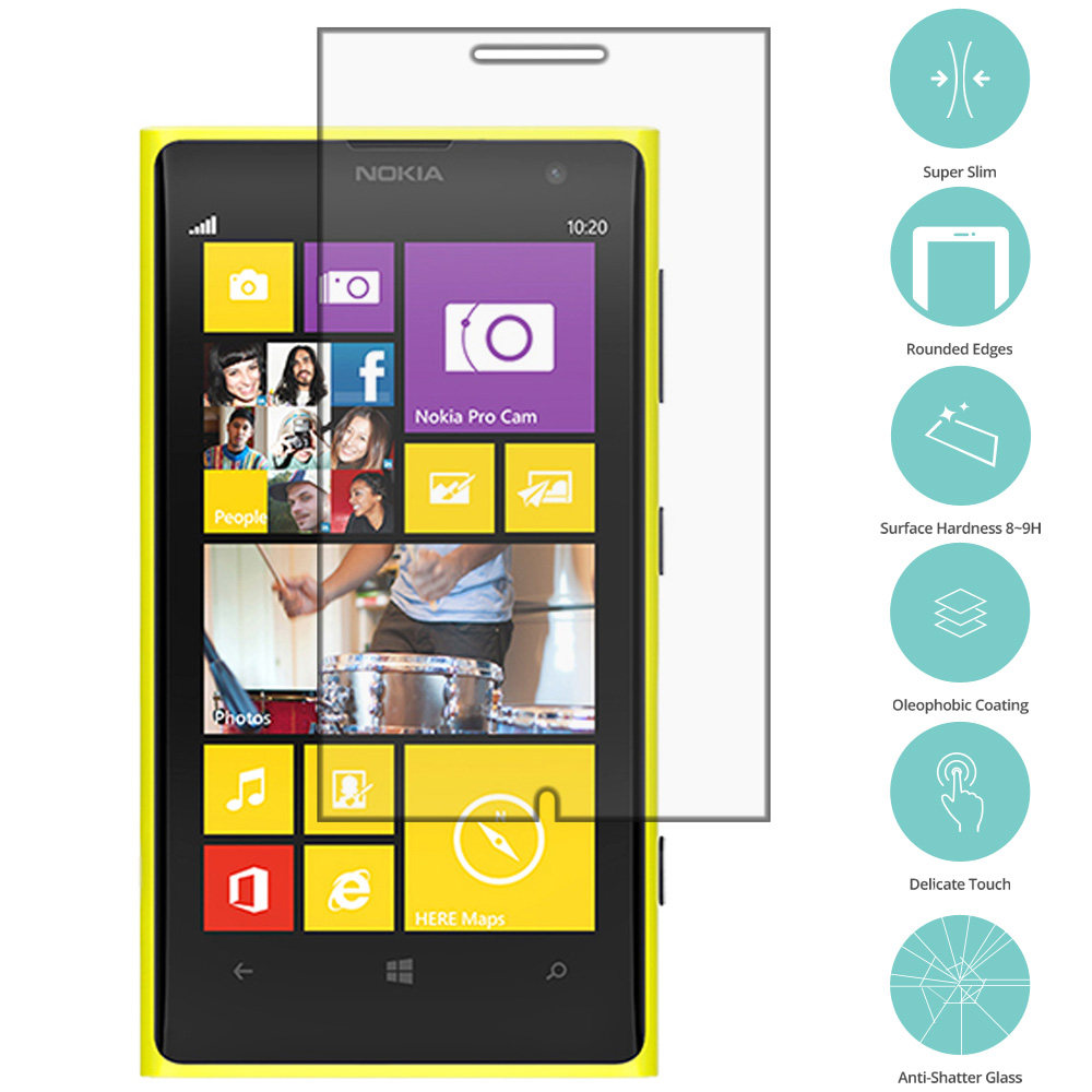 Nokia Lumia 830 Clear Tempered Glass Film Screen Protector Clear