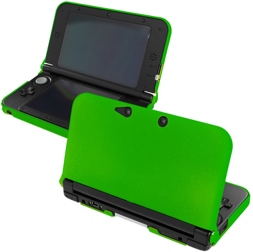 Nintendo 3DS XL Green Hard Rubberized Case Cover