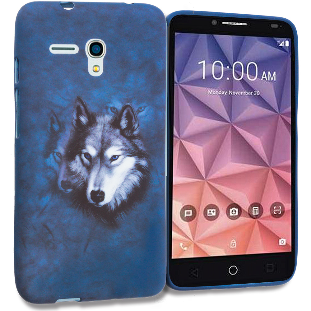 Alcatel OneTouch Fierce XL Wolf TPU Design Soft Rubber Case Cover