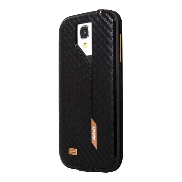 Samsung Galaxy S4 Avivo Black Carbon Jacket and Frame Case