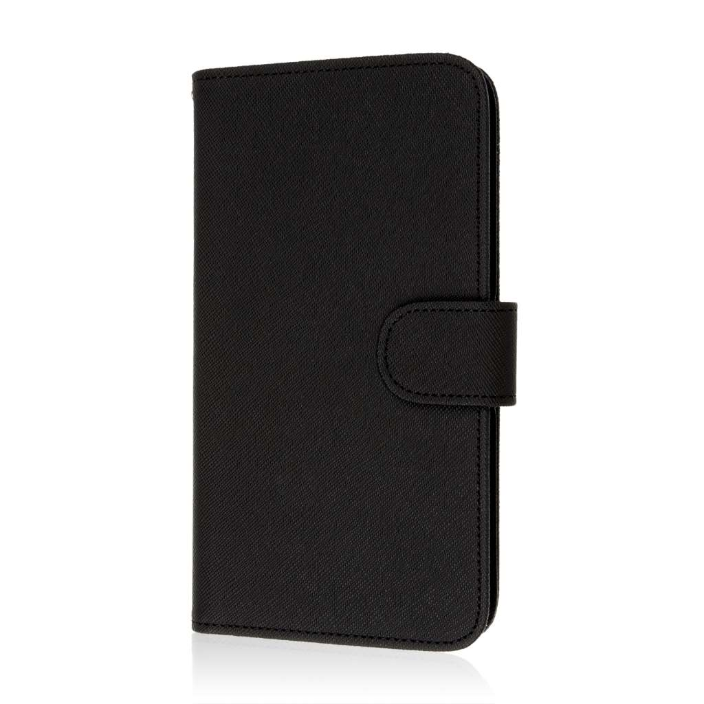 Samsung Galaxy Mega 2 - Black MPERO FLEX FLIP Wallet Case Cover