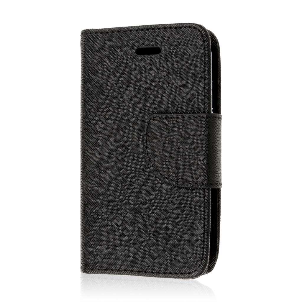 ZTE Prelude 2 -Black MPERO FLEX FLIP 2 Wallet Stand Case Cover