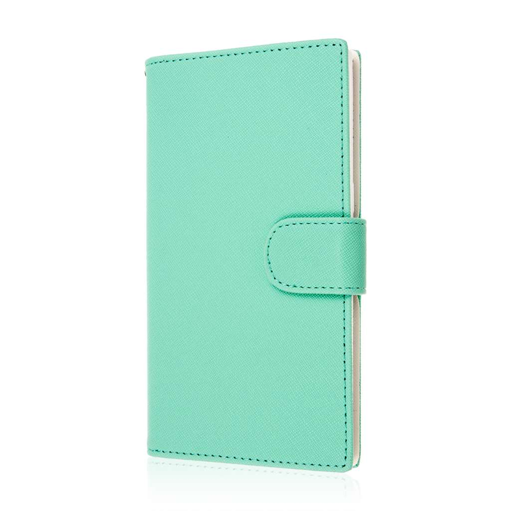 ZTE ZMAX - Coral / Mint MPERO FLEX FLIP Wallet Case Cover