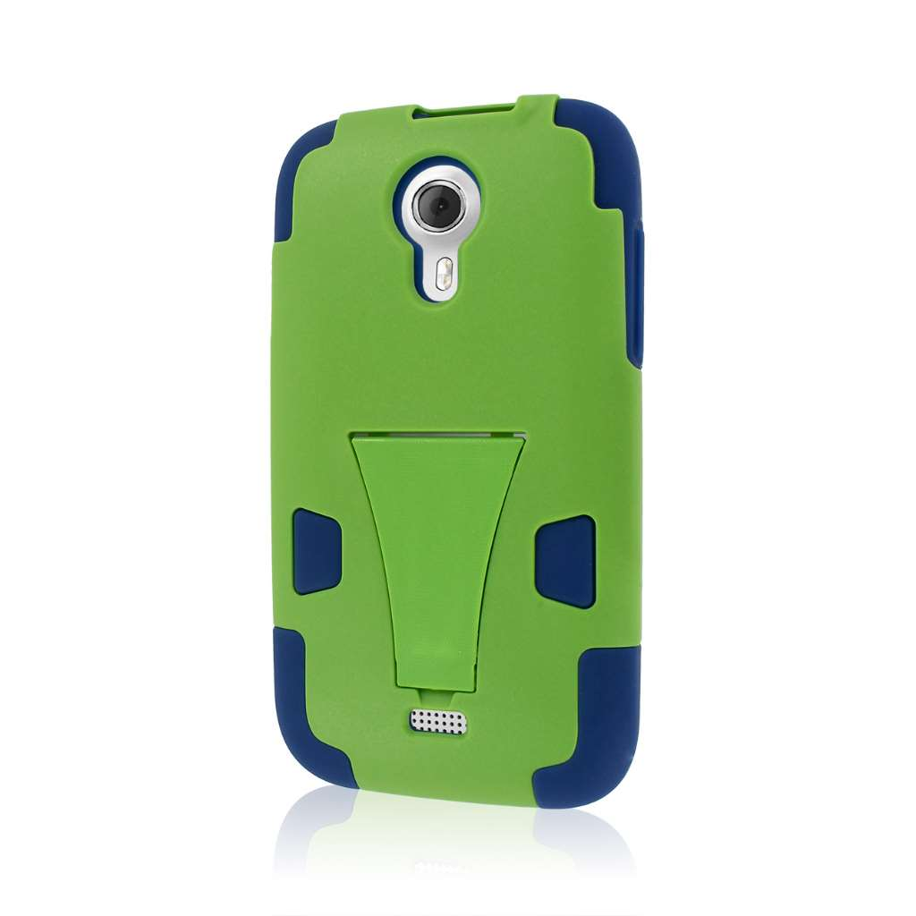BLU Studio 5.0 - Blue / Green MPERO IMPACT X - Kickstand Case Cover