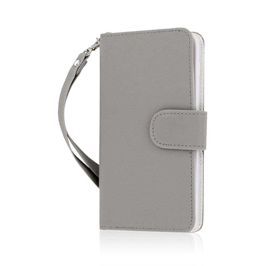 BLU Studio 5.0 S II - Gray MPERO FLEX FLIP Wallet Case Cover