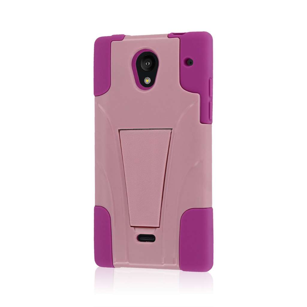 Sharp AQUOS Crystal - Pink MPERO IMPACT X - Kickstand Case Cover
