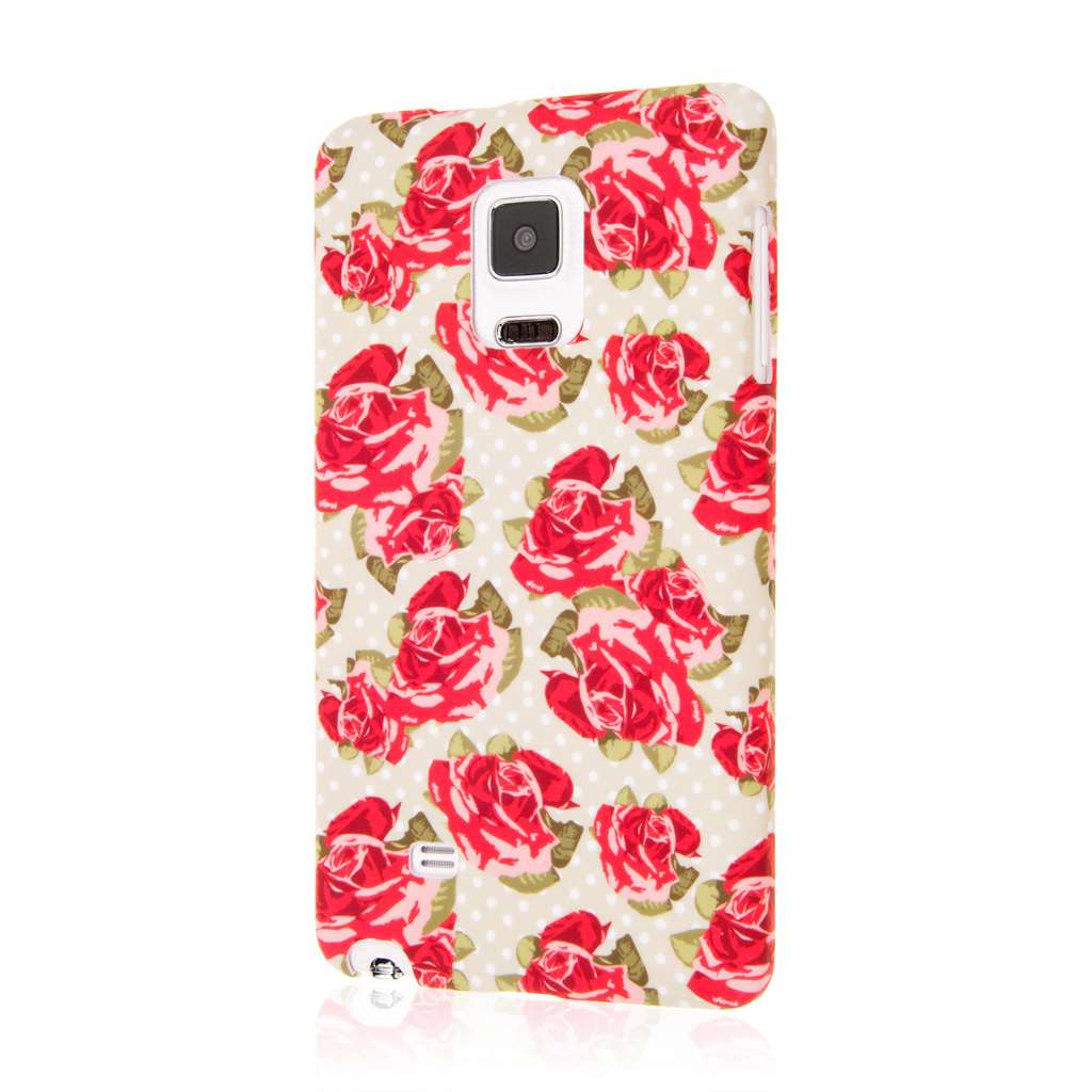 Samsung Galaxy Note Edge - Vintage Red Roses MPERO SNAPZ - Case Cover