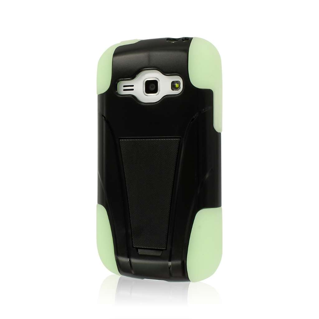 Samsung Galaxy Prevail 2- GLOW IN THE DARK GREEN MPERO IMPACT X - Stand Case