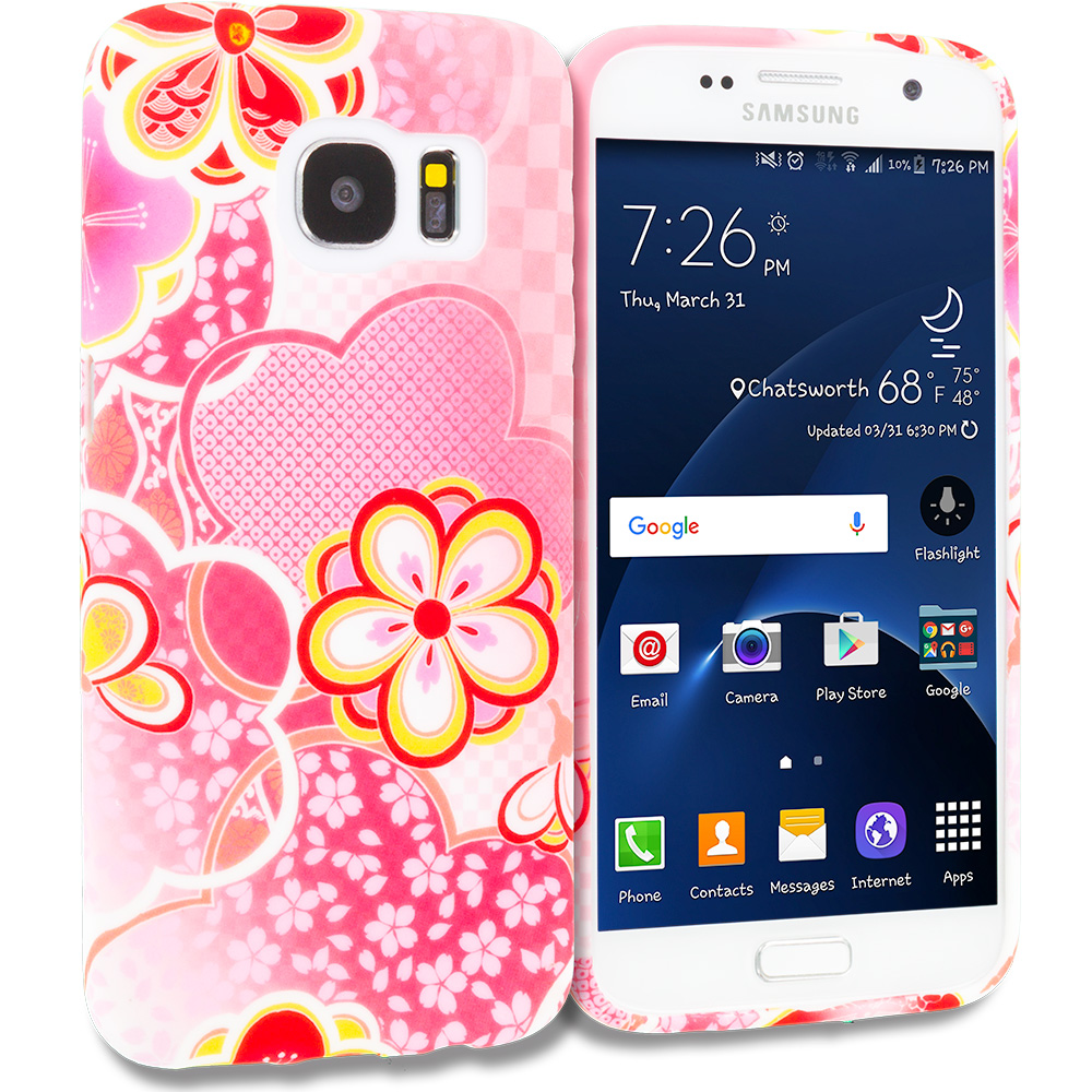 Samsung Galaxy S7 Edge Pink Fairy Tale TPU Design Soft Rubber Case Cover