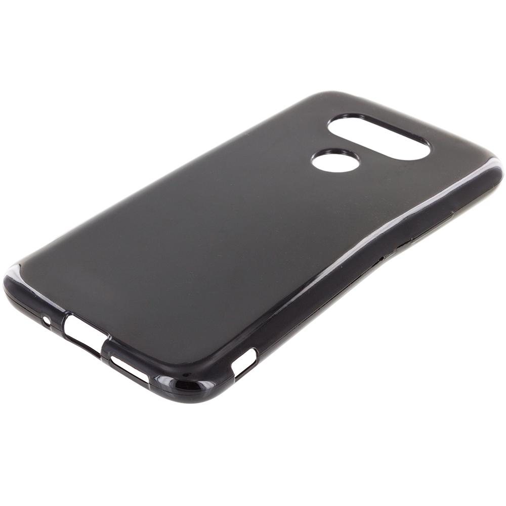 LG G5 Black TPU Rubber Skin Case Cover