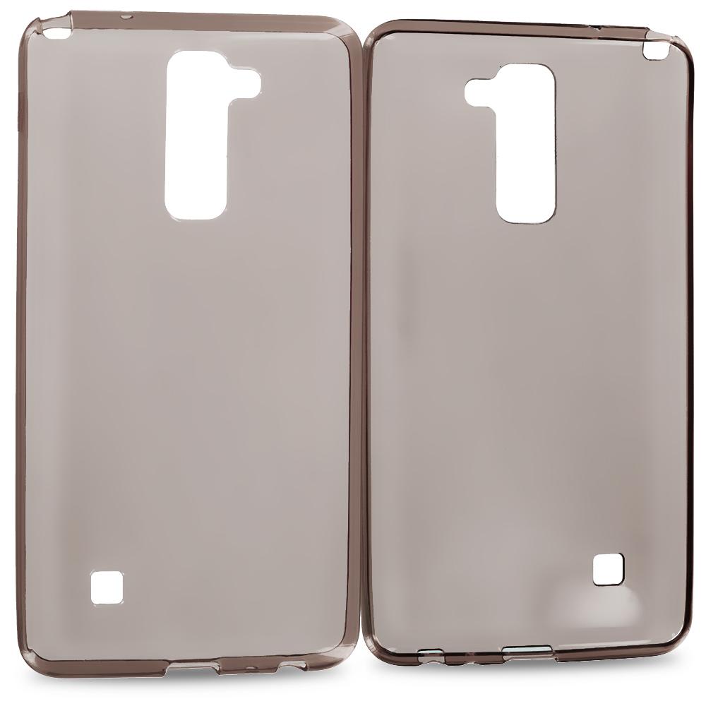LG G Stylo 2 LS775 Smoke TPU Rubber Skin Case Cover