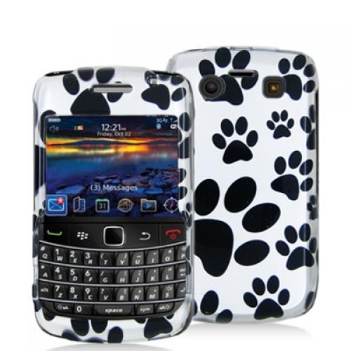 BlackBerry Bold 9700 9780 Dog Paw Design Crystal Hard Case Cover