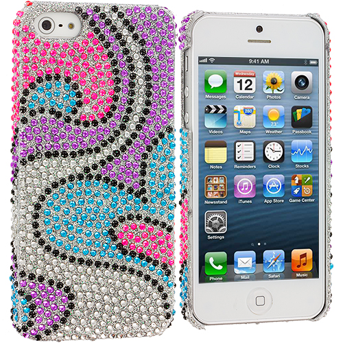 Apple iPhone 5/5S/SE Water Heart Bling Rhinestone Case Cover