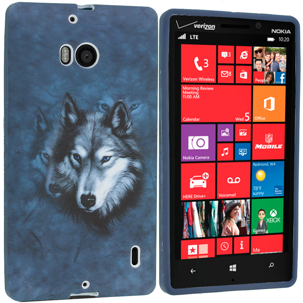 Nokia Lumia 929 Icon Wolf TPU Design Soft Case Cover