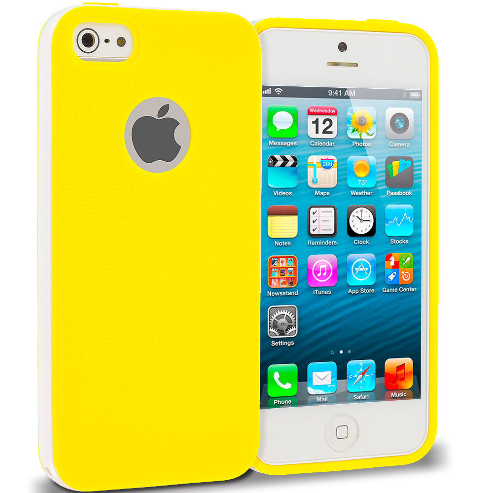 Apple iPhone 5/5S/SE Yellow Hybrid TPU Bumper Case Cover