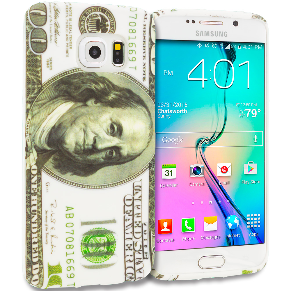 Samsung Galaxy S6 Edge Hundred Dollars TPU Design Soft Rubber Case Cover