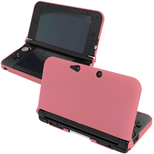 New 2015 Nintendo 3DS XL Light Pink Hard Rubberized Case Cover