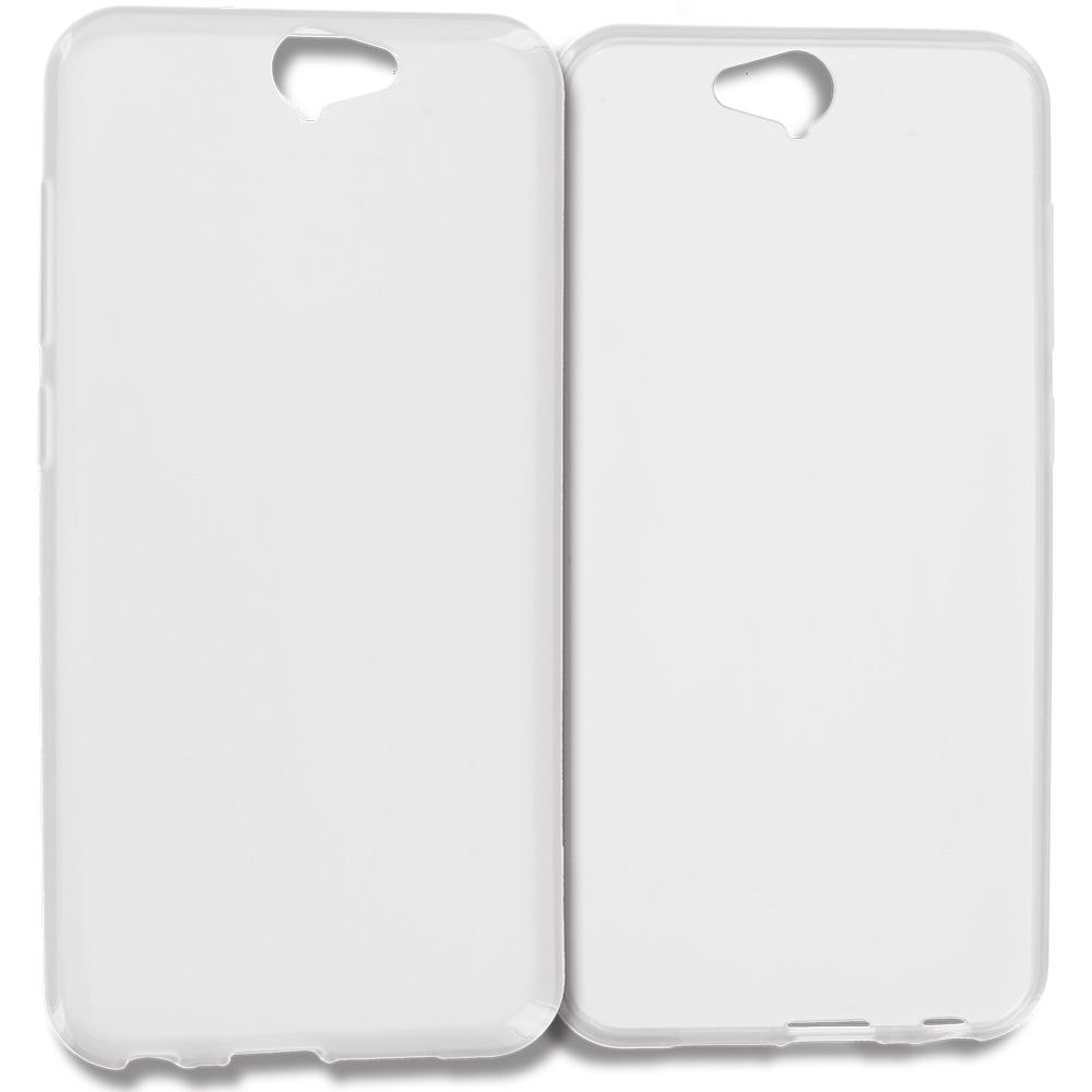 HTC Aero One A9 Clear TPU Rubber Skin Case Cover