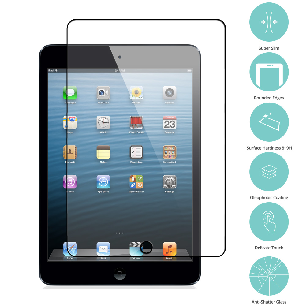 Apple iPad Mini 1 / 2 / 3 Clear Tempered Glass Film Screen Protector Clear