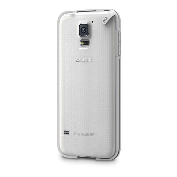 Samsung Galaxy S5 - Clear/White PureGear Slim Shell Case