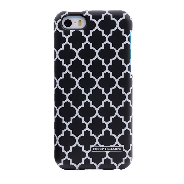 iPhone 5/5S/SE - Lattice Cyan BodyGlove Splash Case Cover
