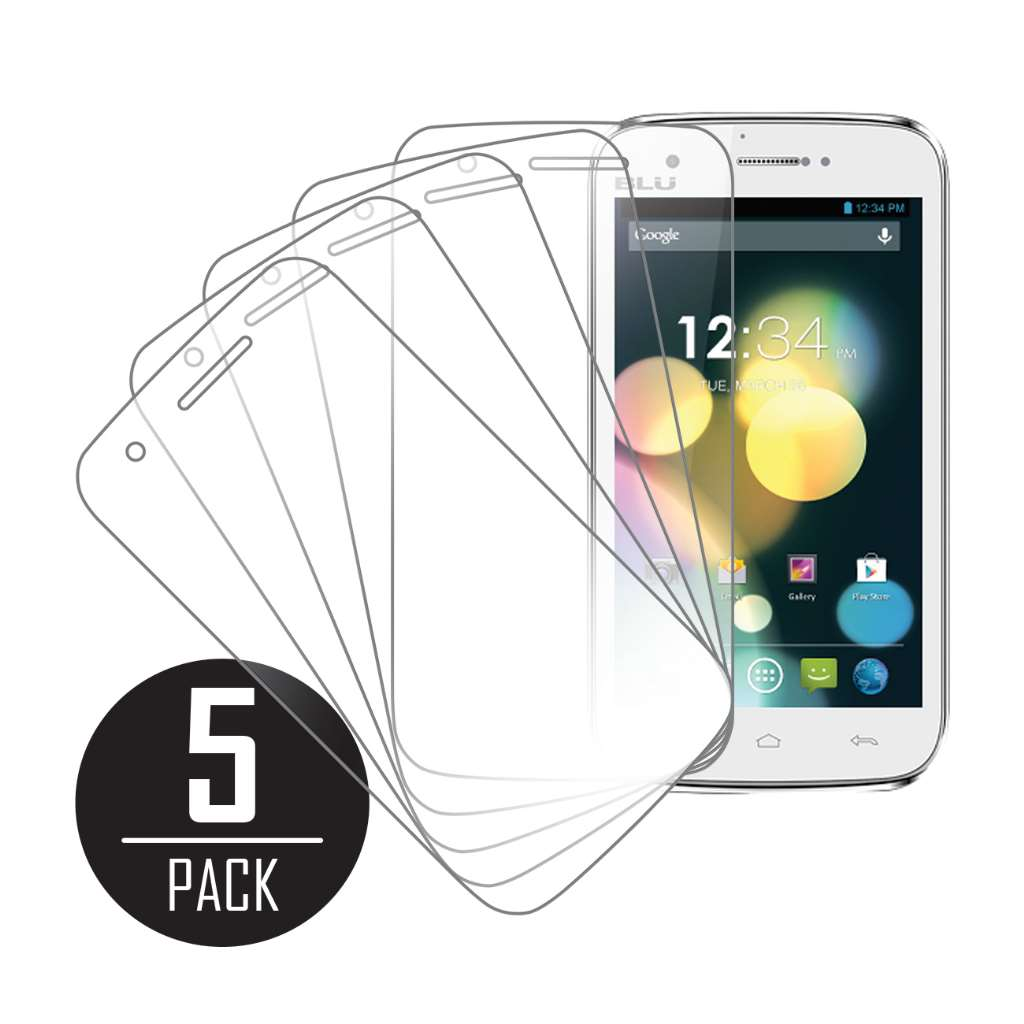 BLU Studio 5.0 MPERO 5 Pack of Clear Screen Protectors
