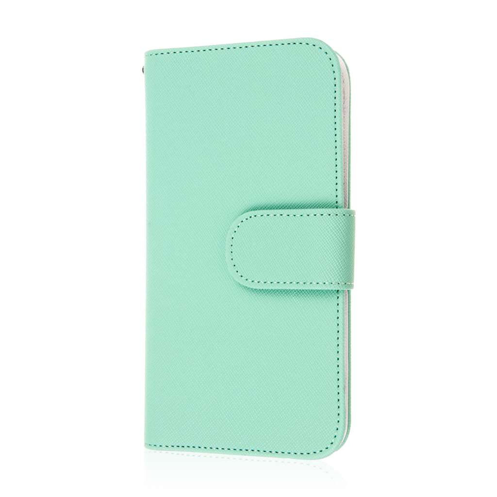 HTC One M9 - Mint MPERO FLEX FLIP Wallet Case Cover