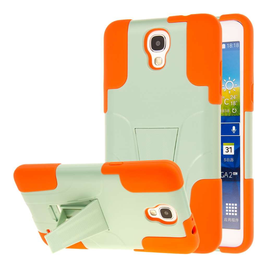Samsung Galaxy Mega 2 - Coral / Mint Combo Pack : MPERO IMPACT X - Kickstand Case Cover : Color Coral / Mint