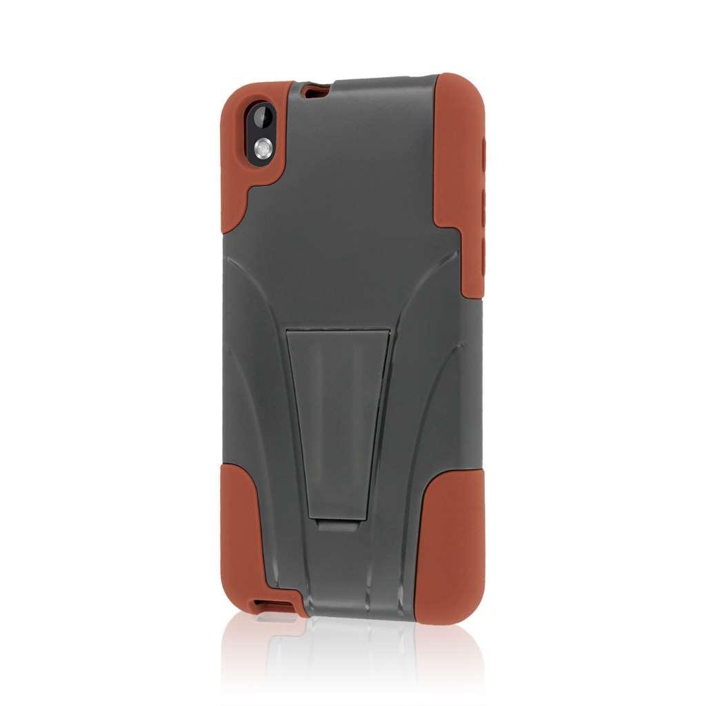 HTC Desire 816 - Sandstone / Gray MPERO IMPACT X - Kickstand Case Cover