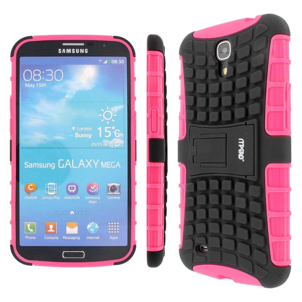 Samsung Galaxy Mega 6.3 - BLACK/HOT PINK MPERO IMPACT SR - Kickstand Case