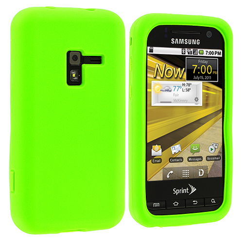 Samsung Conquer 4G D600 Neon Green Silicone Soft Skin Case Cover