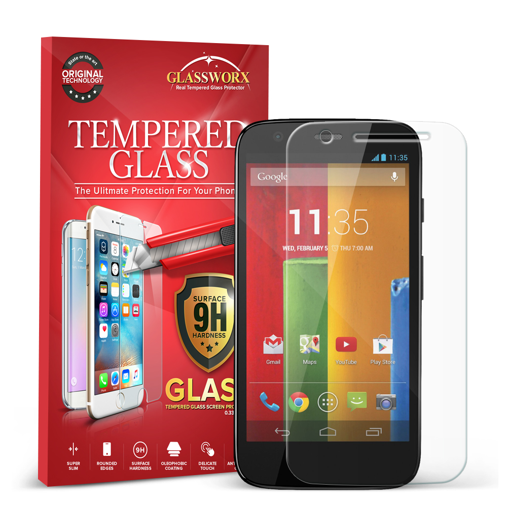 Motorola Moto G GlassWorX HD Clear Tempered Glass Screen Protector