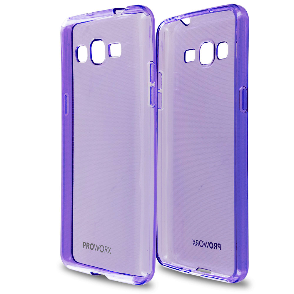 Samsung Galaxy Grand Prime LTE G530 Purple ProWorx Ultra Slim Thin Scratch Resistant TPU Silicone Case Cover