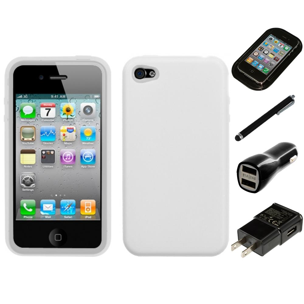 for apple iphone 4 4s silicone skin rubber soft case phone. Black Bedroom Furniture Sets. Home Design Ideas