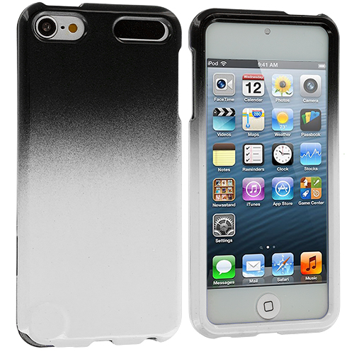 Apple iPod Touch 5th 6th Generation Black / White Two-Tone Hard Case Cover