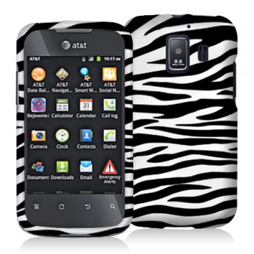 Huawei Fusion 2 U8665 Black / White Zebra Design Crystal Hard Case Cover
