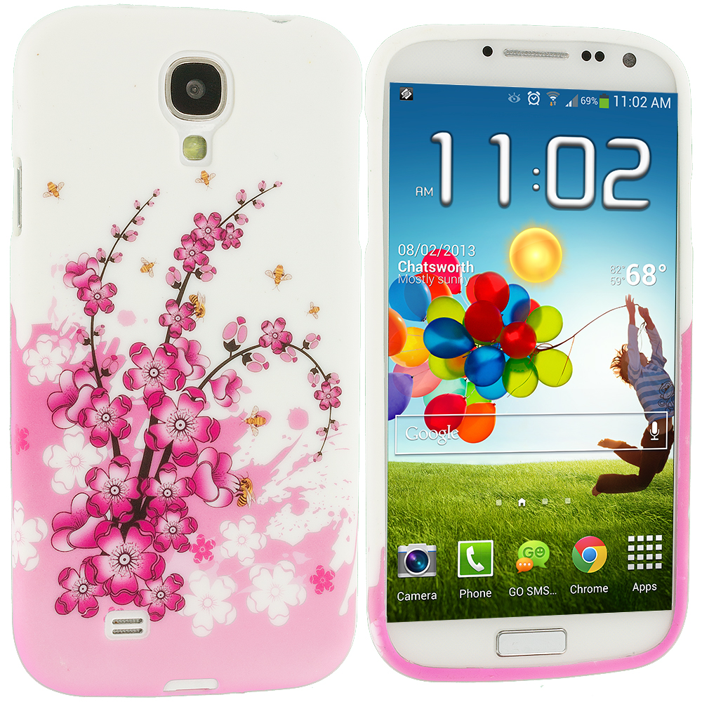 Samsung Galaxy S4 Spring Flower TPU Design Soft Case Cover