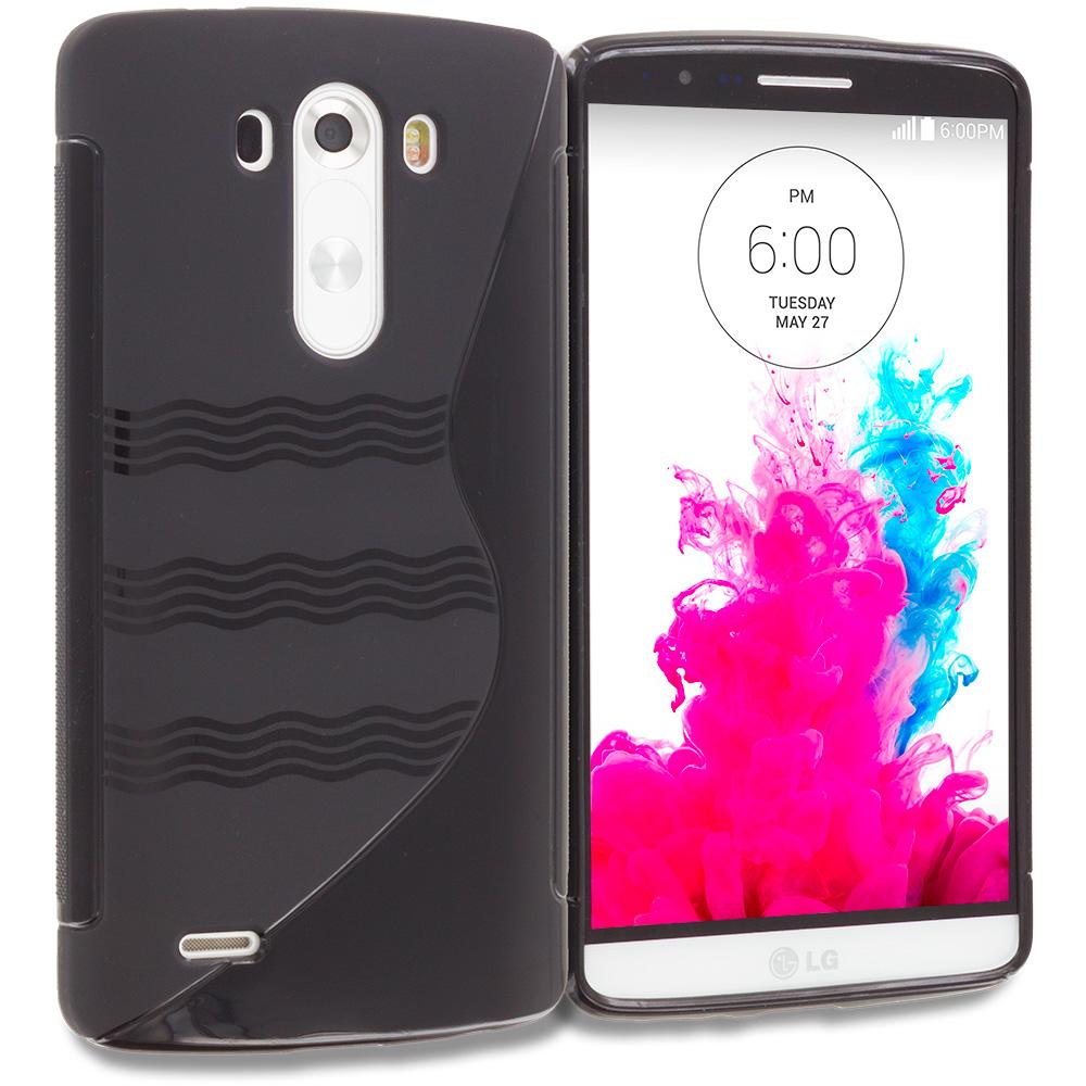 LG G3 Black S-Line TPU Rubber Skin Case Cover