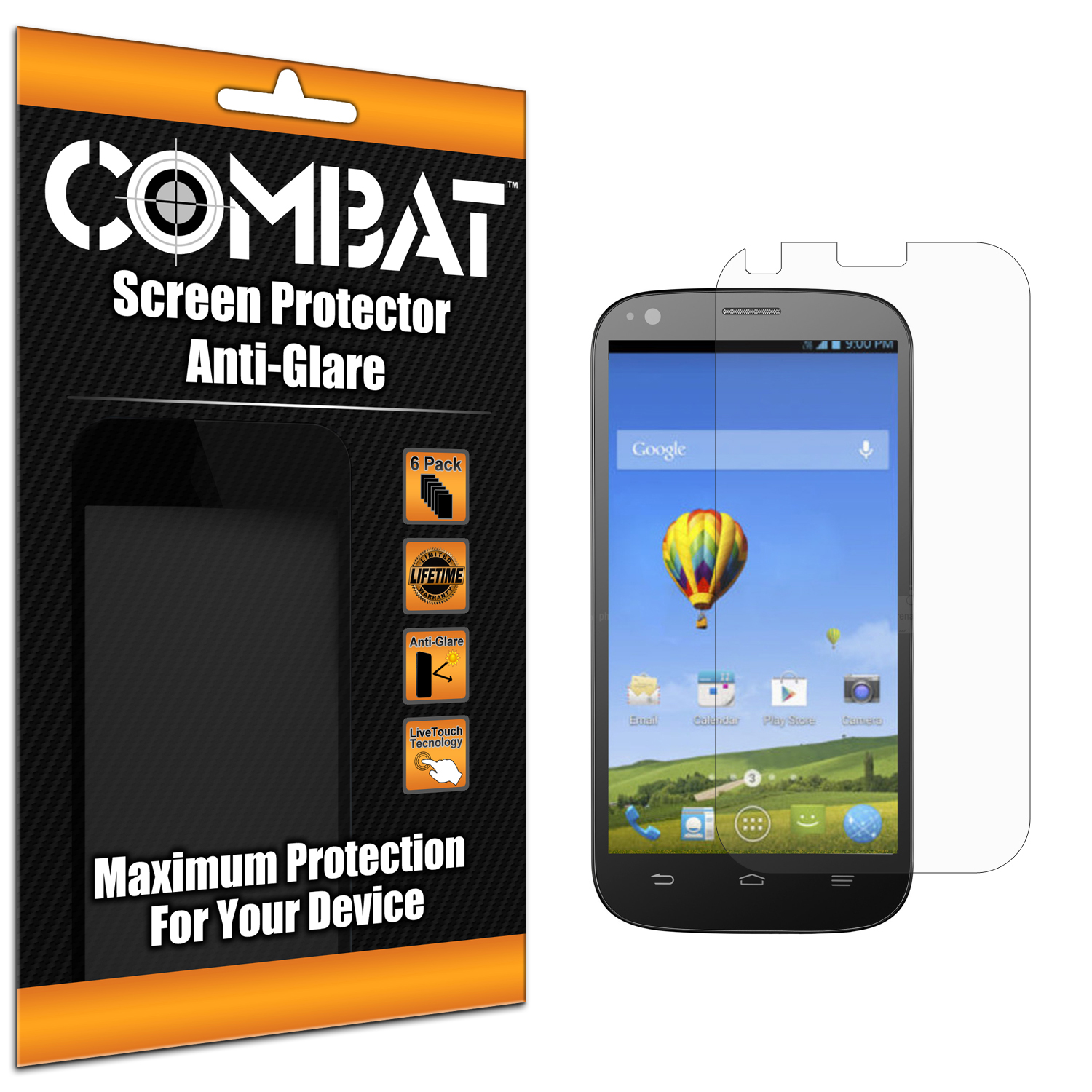 ZTE Grand S Pro N9835 Combat 6 Pack Anti-Glare Matte Screen Protector