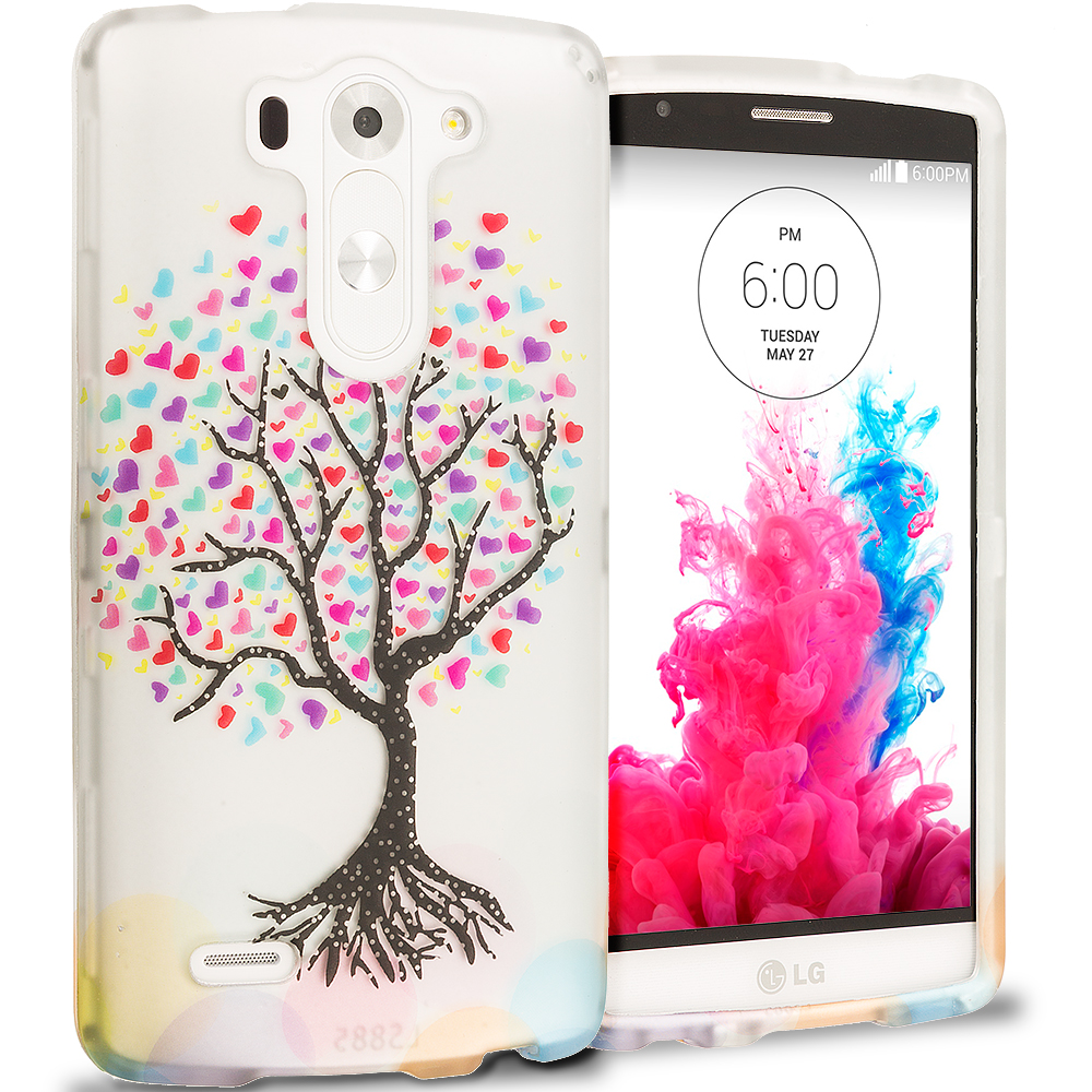 LG G3 Vigor D725 G3s Love Tree Hard Rubberized Design Case Cover