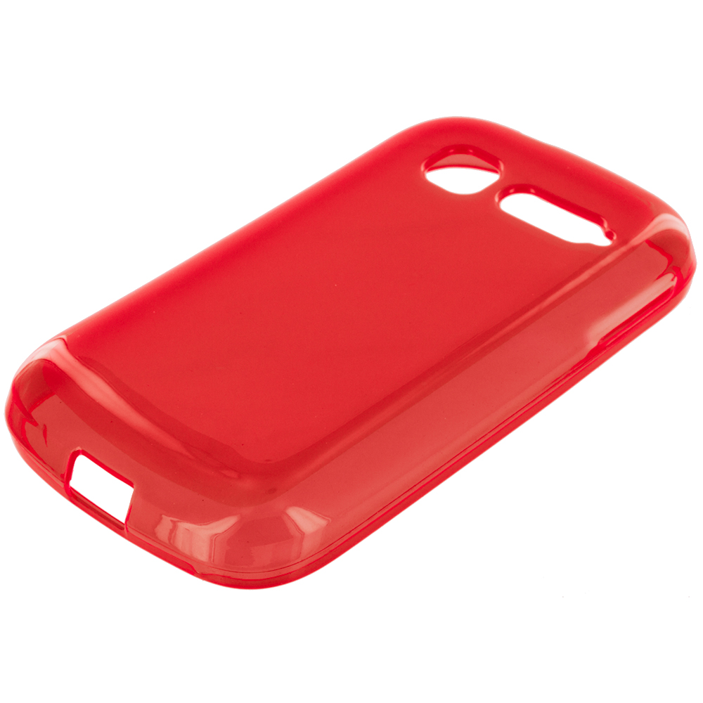 Alcatel One Touch Pop C1 Red TPU Rubber Skin Case Cover